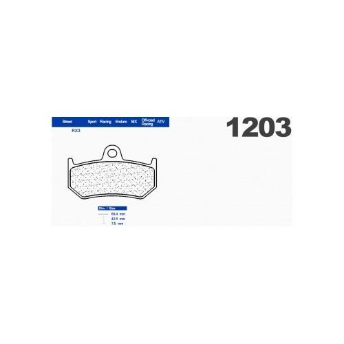 PASTIGLIE FRENI CARBONE LORRAINE SINTERIZZATE 1203RX