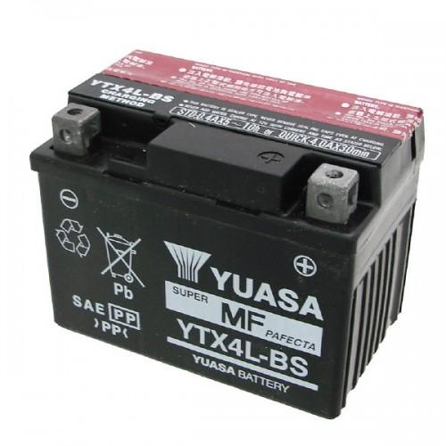 PRODOTTO BATTERIA YUASA YTX4L-BS (SIGILLATA CON ACIDO A CORREDO)