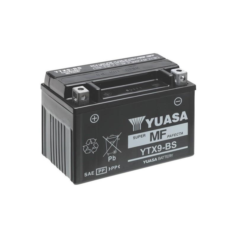 BATTERIA YUASA YTX9-BS (SIGILLATA CON ACIDO A CORREDO)