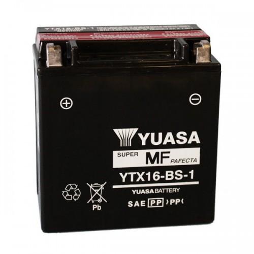 BATTERIA YUASA YTX16-BS-1 (SIGILLATA CON ACIDO A CORREDO)
