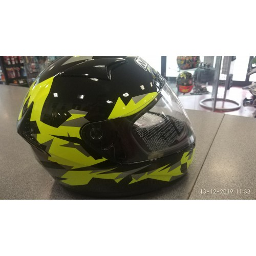 CASCO MDS FIGHTER NERO GIALLO NERO TG.XL